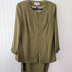 Church wedding formal skirt suit jacket New Plus